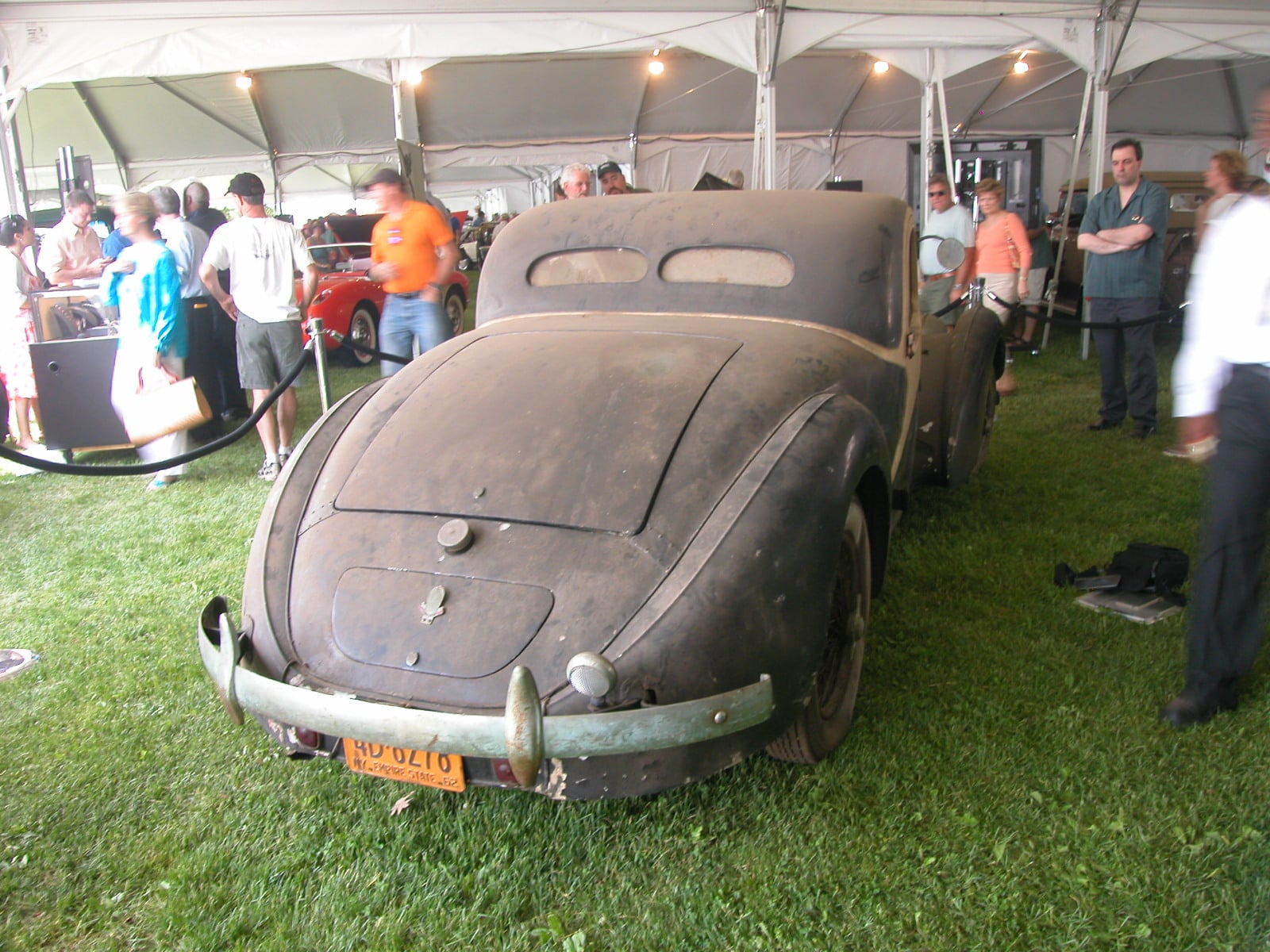 Bugatti 1938 Type 57C Atalante Rear, copyright 2007 R.S. Carey