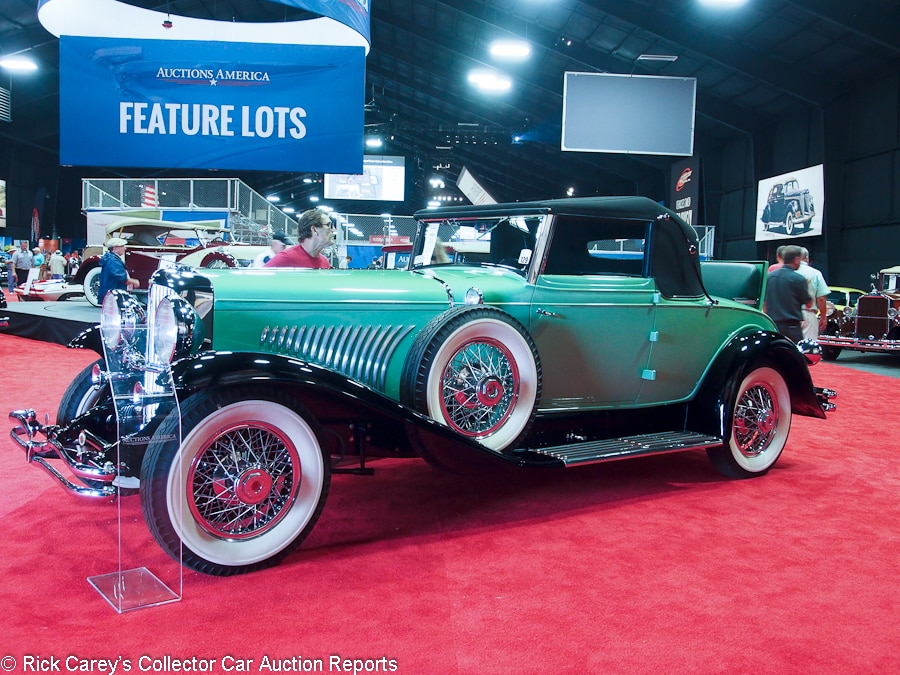 lot duesenberg model j convertible coupe body by fleetwood sn engine j417 green black leather black cloth top