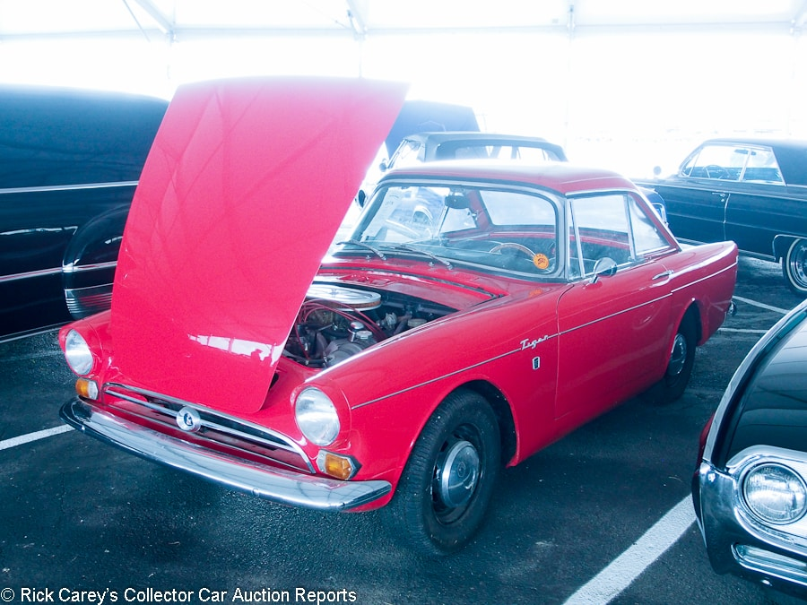 lot sunbeam tiger mk i convertible sn red red vinyl estimate u2013 visually maintained