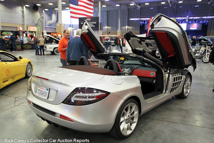 Lot # 491 2008 Mercedes Benz SLR McLaren Convertible; S/N  WDDAK76F58M001741; Crystal Laurite Silver/Red Semi Aniline Leather;  Unrestored Original, ...