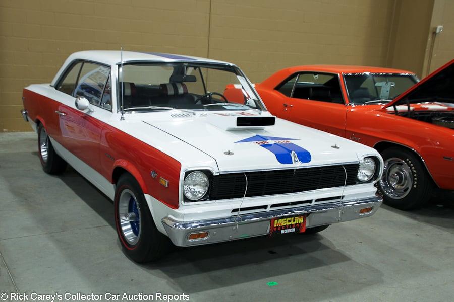 Lot S164 1969 American Motors Sc Rambler Hurst 2 Dr Hardtop S N A9m097x305430 White Red Blue Gray Vinyl Estimate 70 000 80